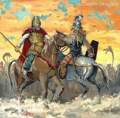 4th cent. BCE: dacian and celtic noble on horseback
