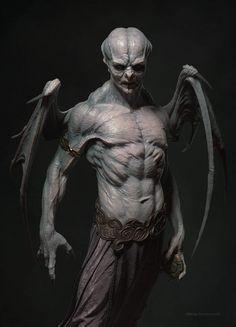 Marcus vampire by Nikolay Demencevich Creature Concept Art, Creature Design, Arte Horror, Horror Art, Dark Fantasy Art, Warrior Angel, Ps Wallpaper, Vampires And Werewolves, Vampire Art