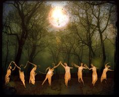 """Moondancers - 8x10 Signed and Matted Metallic Print. """"When I dance, the sun sails safely through the night; When I dance, the future is formed by my feet; When I dance,the stars move through the heavens; When I dance, Venus shimmers the desert; When I dance, dust becomes silver, stones are made of gold!"""" - Cosi Fabian The moondancers gather in forests and deserts, beginning their dance beneath the light of the full moon, asking for nothing, attentive only to the hymns of Terpsichore as…"""