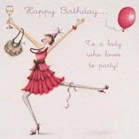 Berni Parker ·· Happy Birthday to a lady who loves to party. Happy Birthday Woman, Happy Birthday Funny, Happy Birthday Quotes, Friend Birthday, Humor Birthday, Birthday Ideas, Birthday Congratulations, Birthday Wishes Cards, Bday Cards