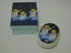 As Pétalas da Margarida Decoupage, Angels, Boxes, Crafty, Blog, Beautiful, Canvas, Daisies, Decorated Boxes