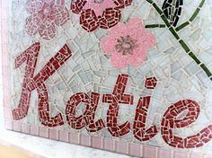 Custom Name Mosaic KATIE by GreenStreetMosaics on Etsy, $145.00