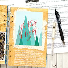 Advent Mixed Media Art Worship Art Journal using the Naptime Diaries Advent Devotional and Calendars | Day 13