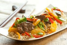 Satsuma, Beef and Vegetable Stir-Fry // How delicious does this look?