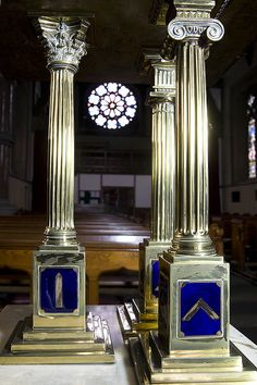 Masonic Lecturn, Saint Edmund's, Falinge by fotofacade, via Flickr