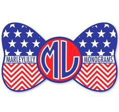 Marley Lilly Merica Bow Promotional Sticker
