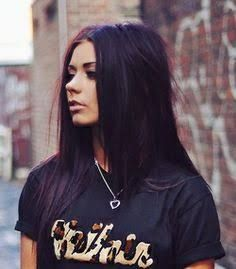purple black hair - Google Search