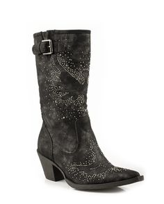 Roper Women's Fashion Crystal Boot - Black
