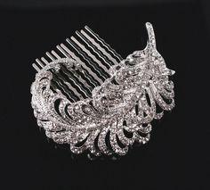 Bridal Brooch or Comb  Wedding Head Piece  by PowderBlueBijoux, $49.00