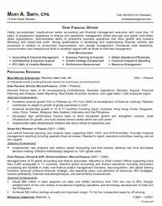 ceo cfo executive resume example executive resume and resume