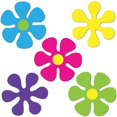 Retro Flower Mini Cutouts-10 Per Unit | Windy City Novelties