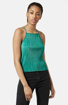 Women's Topshop High Neck Crinkle Camisole