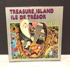 Tronica Treasure Island TI-31 Game Clock LCD Tri Screen Handheld Game RARE #Tronica