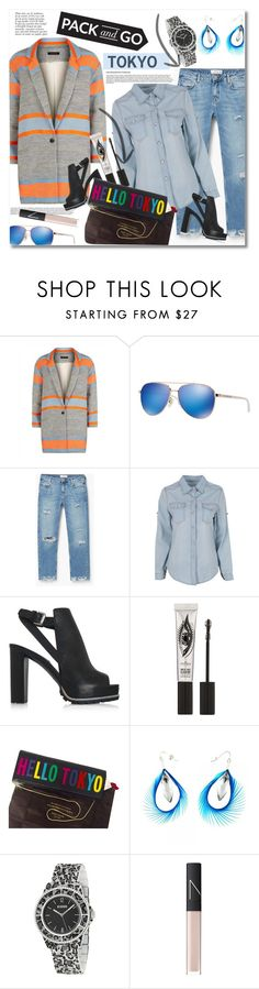 """""""Pack and go to Tokyo"""" by vkmd on Polyvore featuring Jaeger, Michael Kors, MANGO, See by Chloé, Eyeko, Kate Spade, Anja, Versus, NARS Cosmetics and tokyo"""