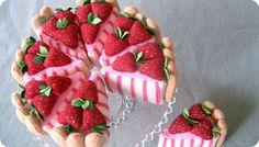Lovely fabric cake