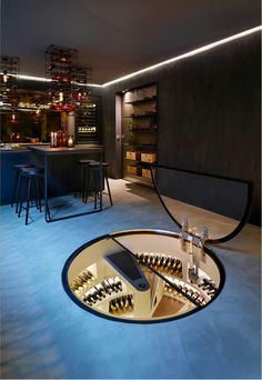 Spiral Cellars are attractive and functional wine storage solutions. Have a look at how Spiral Cellars can help with building your own wine cellar. Dream Home Design, Home Interior Design, House Design, Spiral Wine Cellar, Home Wine Cellars, Wine Cellar Design, Wine House, Wine Wall, Luxury Homes Dream Houses