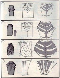 patrones de faldas