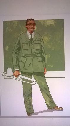 Glenn Miller, Oil on Canvas  w4kalender.tumblr.com  #portrait #painting #art #jazz