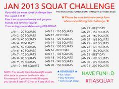 January 2013 Squat Challenge!