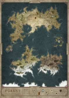 This piece was commissioned by an Australian club for their RPG games in the world of Telduria. This world has been ravaged by a huge magical cataclysm, therefore the center part of the map is obvi...