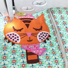 Cat in progress! Photo from jolijou. Fabric: Vintage Kitchen designed by Andrea Muller for Riley Blake Designs