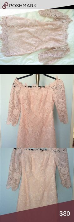 ASTR Nordstrom Madeline Dress Beautiful blush colored, off shoulder dress. It really accentuates curves and is perfect for any special occasion. Please comment if you are interested! ^.^ Astr Dresses Long Sleeve