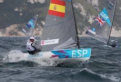 Juegos Olimpicos de Londres 2012.  Clase Finn. Rafael Trujillo (ESP).  8ª posición Diploma Olímpico.