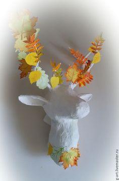 Мастер-класс: интерьерный олень в технике папье-маше