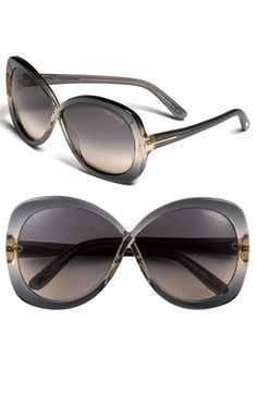 Replacements for my go-to glasses-Tom Ford 'Margot' Oversized Sunglasses available at Nordstrom