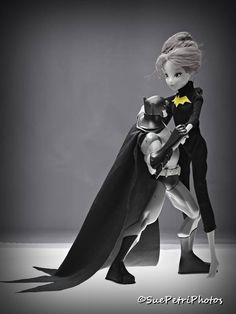 Dancing Batman, Black and White, Selective Color, Fine Art Photography, Fashion Doll Photos, Photos of toys, action figure photos, barbies by SuePetriPhotos on Etsy