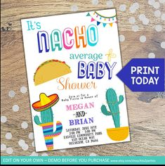 Mexican Theme Baby Shower, Baby Shower Drinks, Baby Shower Parties, Baby Shower Themes, Baby Shower Decorations, Baby Boy Shower, Shower Ideas, Fiesta Gender Reveal Party, Mexican Babies