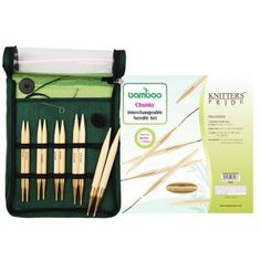 Knitter's Pride Japanese Bamboo Interchangeable Circular Needle Sets feature 10 needle pairs with gold-plated connectors. Shown here is the chunky set! Knitting Needle Sets, Circular Knitting Needles, Knitting Yarn, Japanese Bamboo, Knit Basket, Green Fabric, Tricks, Ebay, How To Make