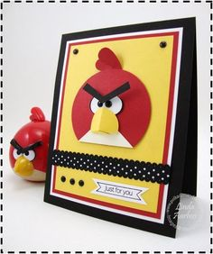 Dimensional Angry Birds punch art