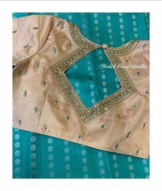 Pattu Saree Blouse Designs, Stylish Blouse Design, Fancy Blouse Designs, Bridal Blouse Designs, Blouse Neck Designs, Simple Embroidery Designs, Embroidery Works, Maggam Work Designs, Designer Blouse Patterns