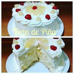 Silvana Cocina Dulce y Salada : Torta de Piña casera - Silvana Cocina ❤ Cake Decorating Videos, Vanilla Cake, Birthday Cake, Sweet, Desserts, Cakes, Recipes, Food, Simple