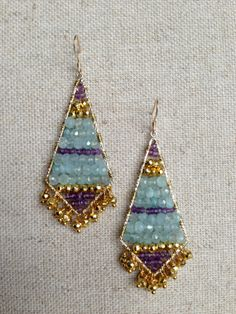 Beaded Dangle Filigree Earring by Goldenstrand Jewelry, www.goldenstrandjewelry.com
