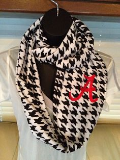 Roll Tide! University of Alabama Houndstooth Infinity Scarf by LilCsBoutique, $22.00