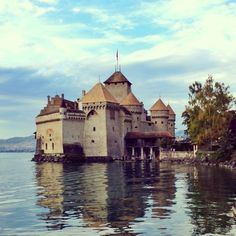 """See 1421 photos and 80 tips from 5870 visitors to Château de Chillon. """"Right on the shore of Lake Geneva in Montreux. Beautiful architecture and. Travel Around The World, Around The Worlds, Switzerland Tourism, Lake Geneva, Most Visited, Beautiful Architecture, Wonderful Places, Places To Visit, Photos"""