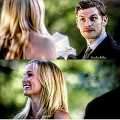 I've never seen Caroline smile like that with anyone else..