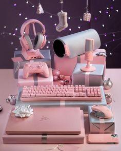 Gamer Setup, Gaming Room Setup, Computer Setup, Cool Gaming Setups, Gaming Chair, Girl Bedroom Designs, Room Ideas Bedroom, Bedroom Decor, Cute Room Ideas