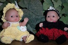 Crocheted clothes for Itty Bitty Baby dolls
