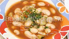 Ciorba de fasole boabe de post Romanian Food, Romanian Recipes, Beans, Cooking Recipes, Dinner, Vegetables, Ethnic Recipes, Travel, Dining