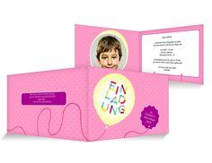 Ballon Einladungskarten Kindergeburtstag