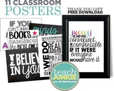 27 Classroom Poster Sets: Free and Fantastic - Teach Junkie Subscriber Free Gift Thank You