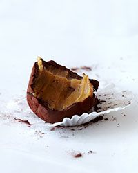 Roasted White Chocolate & Coffee Truffle: Belinda Leong slow-roasts white chocolate, which adds an enticing caramel flavor to the supercreamy ganache filling in her truffles.