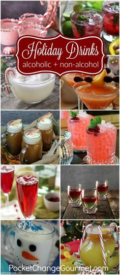 Festive Holiday Drinks for Christmas and New Year's Eve