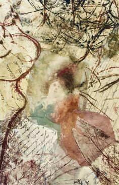 """23 / ALIDA BRUNATI, """"Congiunzione temporale"""", 2018, collage e tecnica mista su carta, 20 x 30 cm."""