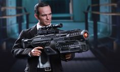 Agent Phil Coulson collectible!!  It comes with the weird gun he doesn't understand!! Yes!!