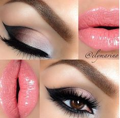 Gorgeous eye make up and pink lips Flawless Makeup, Gorgeous Makeup, Pretty Makeup, Love Makeup, Skin Makeup, Makeup Tips, Makeup Ideas, Makeup Eyeshadow, Pink Eyeshadow