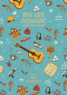 The Life Aquatic with Steve Zissou (2004) ~ Minimal Movie Poster by Andres Lozano ~ Wes Anderson Series #amusementphile